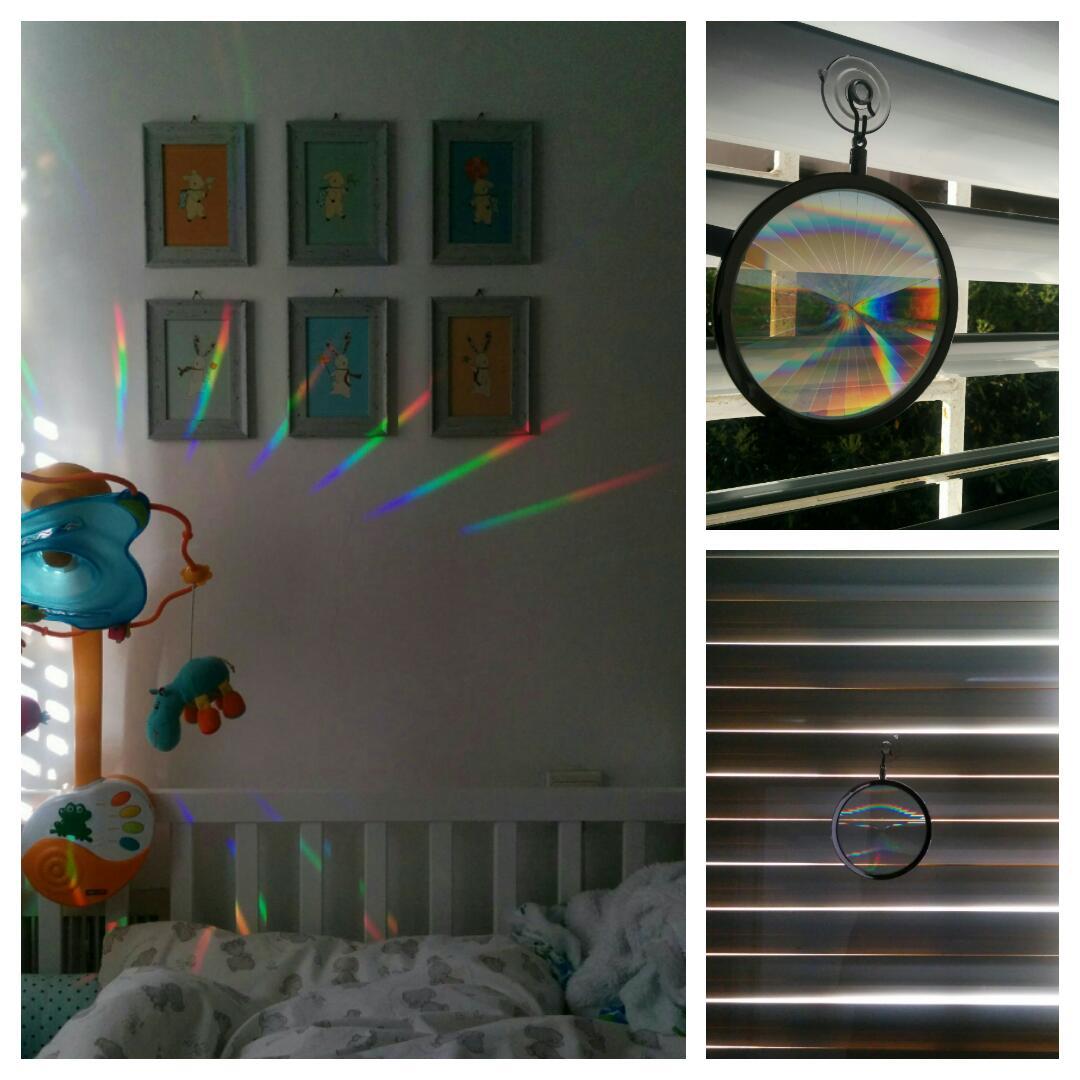 פנג שואי עם מנסרה - צבעי קשת בתוך הבית
